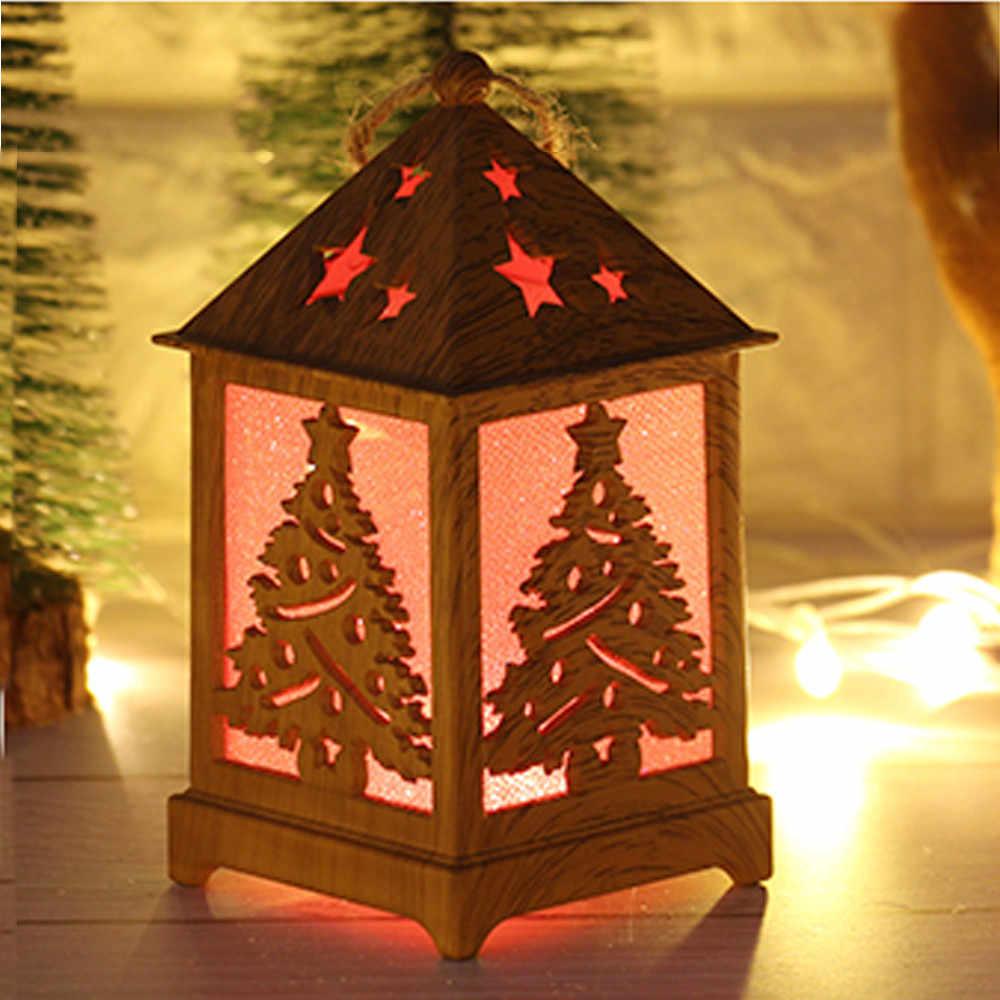 新ファッション高品質クリスマスライトキャビンクリスマス雪ハウス木製キャビンデコレーションドロップシッピング