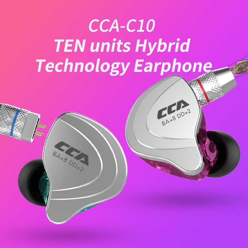 CCA C10 1DD + 4BAHybrid In Ear наушники HIFI монитор DJ наушники для бега гарнитура вкладыши для ZSN PRO ZS10 PRO ZST ZS10 AS10