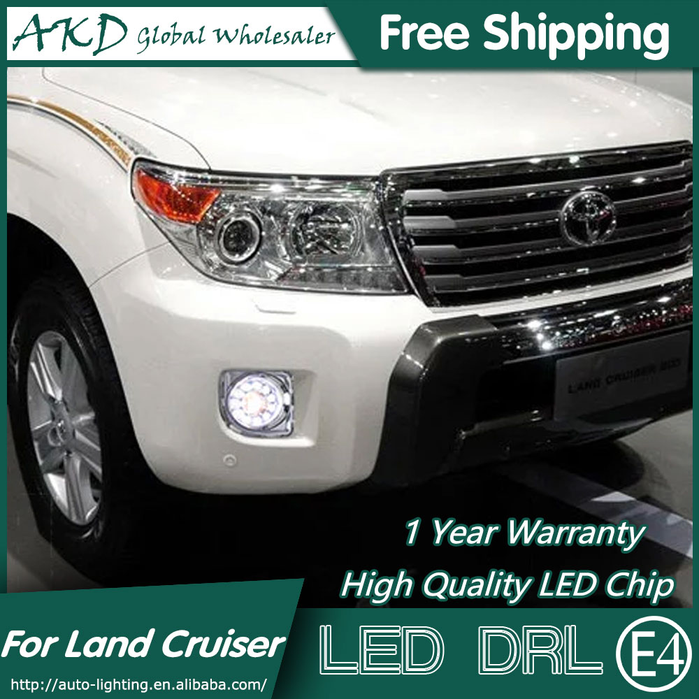 2010 2014 Land Rover Discovery Lr4 Performance Led Drl: AKD Car Styling For Toyota Land Cruiser LED DRL 2010 2014