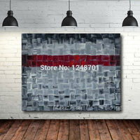 Hand Painted Palette Knife Abstract Oil Painting Gray Red Color Art Picture Wall Art For Living Room Home Decoration Pictures
