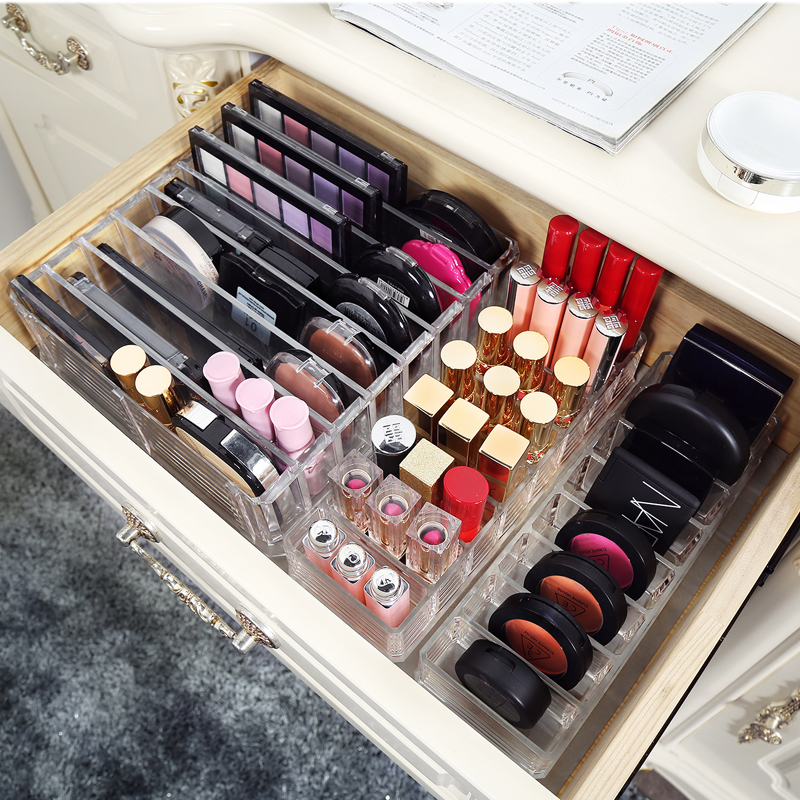 Plastics makeup holder Cosmetics holder jewelry <font><b>storage</b></font> Powder organizing cosmetics organizer rack A77