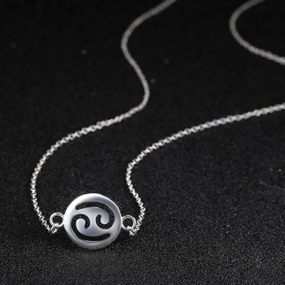 TOP2 constellation de mode fine jewelry, Cancer pendentif pour le cadeau d'anniversaire, 925 collier en argent