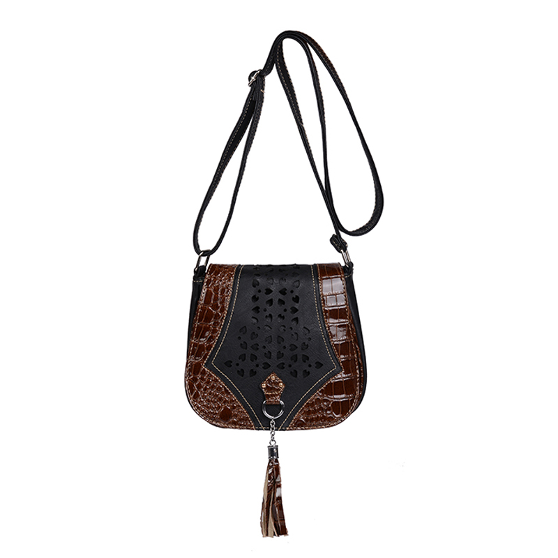 Women Messenger Bags With Tassel Ladies Vintage Hollow Design Handbag Brand Casual Bohemian Shoulder Bags Female Crossbody Bag casual rivets and tassel design crossbody bag for women href