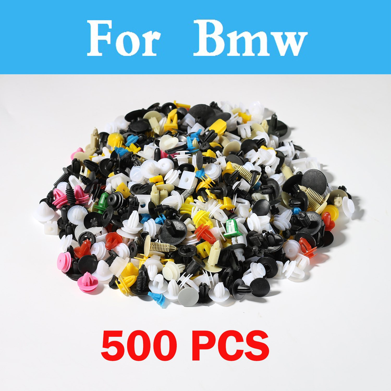 Nouveau 500 pcs Mixte Voiture Rivet Fixation Push Panneau De Porte Garniture Pour Bmw E53 E60 E61 E39 E46 E52 E63 E90 F30 F10 X3 X5 X6 M 125i E36 E38