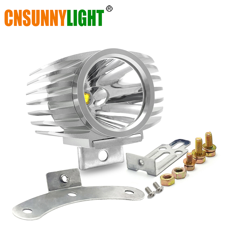CNSUNNYLIGHT LED Car External Headlight 15W 10W White High/Low Motorcycle DRL Headlamp Spotlight Drive Fog Spot Lights DC12V/24V