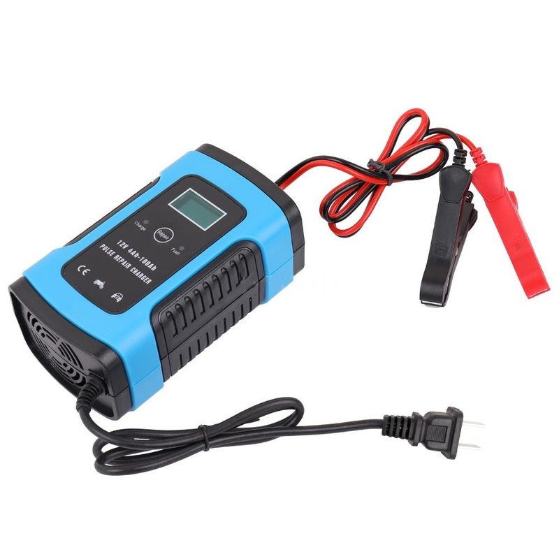 12V 5A Smart Fast Lead-acid Battery Charger For Car Motorcycle LCD 110V-240V