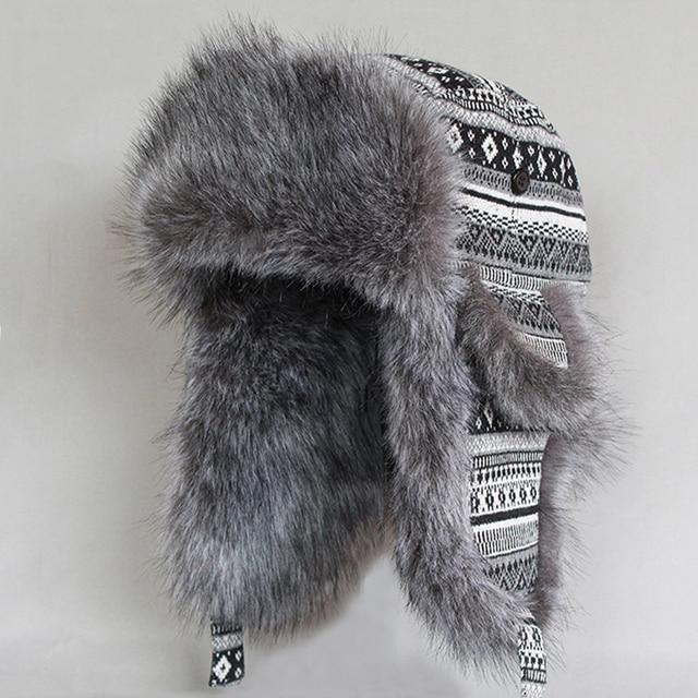 Russo Colbacco Uomini Cappelli invernali e con pelliccia Aviator Cappello  Faux Pelliccia di Volpe Paraorecchie di c63c5d196851