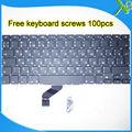 "Brand New For MacBook Pro Retina 13.3"" A1425 RU Russian keyboard+100pcs keyboard screws 2012 Year"
