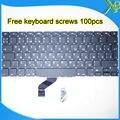 """Las Novedades Para El MacBook Pro Retina 13.3 """"A1425 RU teclado Ruso 100 unids tornillos del teclado 2012 Año"""