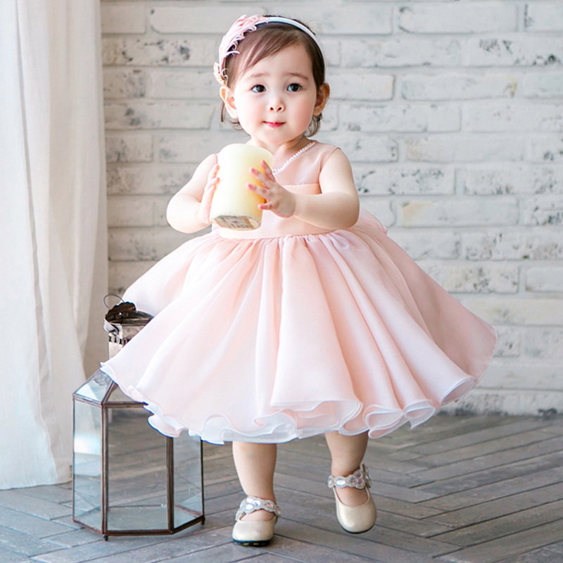 Summer Princess Dress Pink Tulle Bow Ball Gown Princess Girl Dresses Sleeveless Flower Girl Dress Evening Party Dress Girl E327 summer baby girl s dress cloth cherry blossom korean version sleeveless vest dress princess bow tie vestido