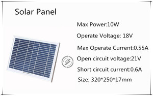Image 3 - 10W home Solar System 18V solar panel with solar controller cable DIY kit