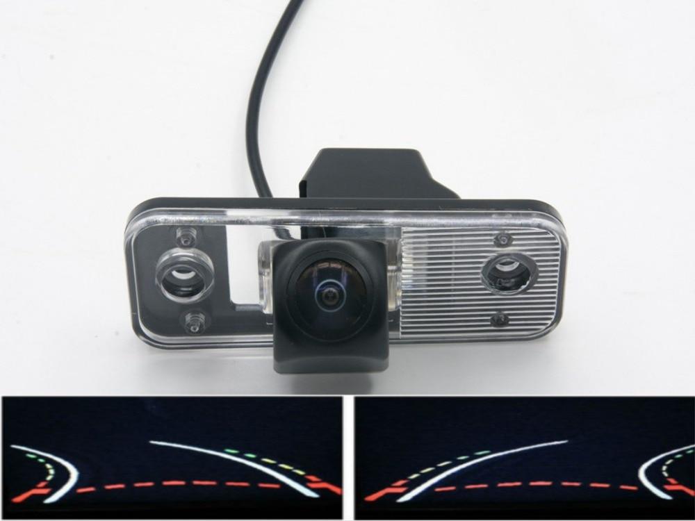Fisheye Lens 1080P Trajectory Tracks  Car Rear view Camera For Hyundai Azera SantaFe Santa Fe IX45 2009 2010 2011 2012