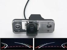Fisheye Lens 1080P Trajectory Tracks  Car Rear view Camera For Hyundai Azera SantaFe Santa Fe IX45 2009 2010 2011 2012 Car