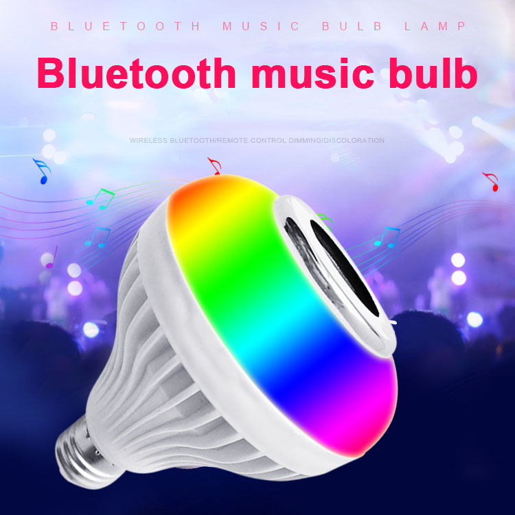 Newest Smart LED RGB Wireless Lamp Bluetooth Speaker Bulb 12W Music Playing Indoor Light @8
