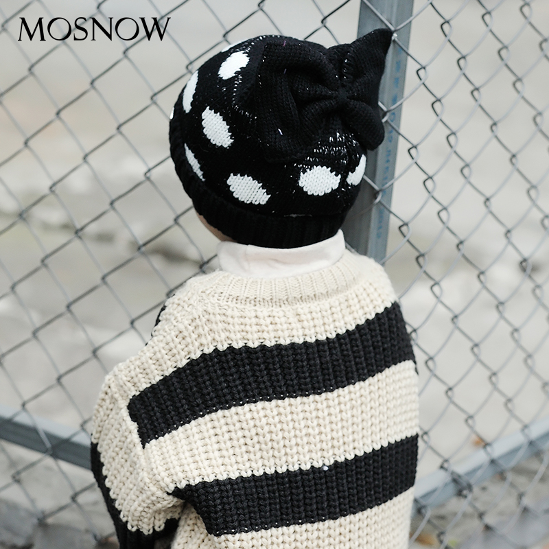 MOSNOW Caps Children Boy Girl Cute Cat Ear Knitted Winter Brand New Fashion 2018 High Quality Baby Hat Skullies Bonnet #MZ867