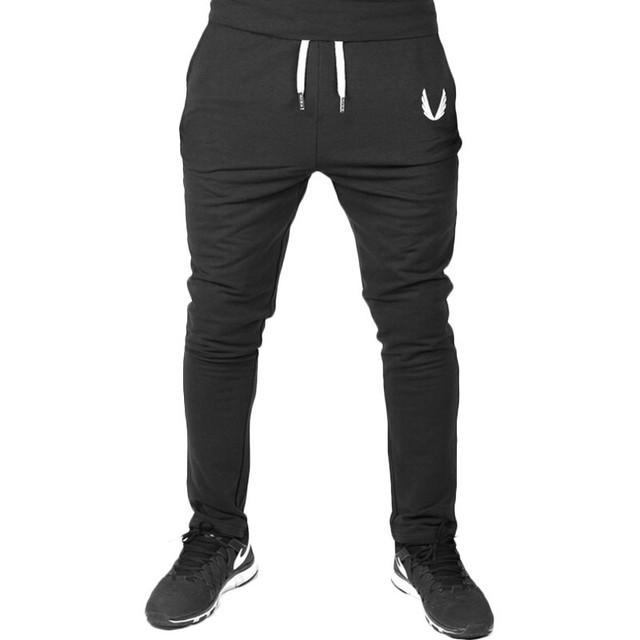 2016 de Los Hombres Pantalones Casuales Elástico de algodón Para Hombre de Fitness JADEO y OROS Entrenamiento Pantalones flacos, Pantalones de Chándal Basculador Pantalones
