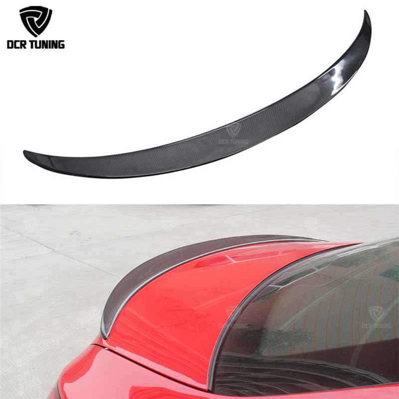Untuk Mercedes CLA Spoiler CLA45 W117 C117 Fiber Carbon Wear Trunk Wings Spoiler cla 200 250 260 2013 2014 2015 2016 - UP
