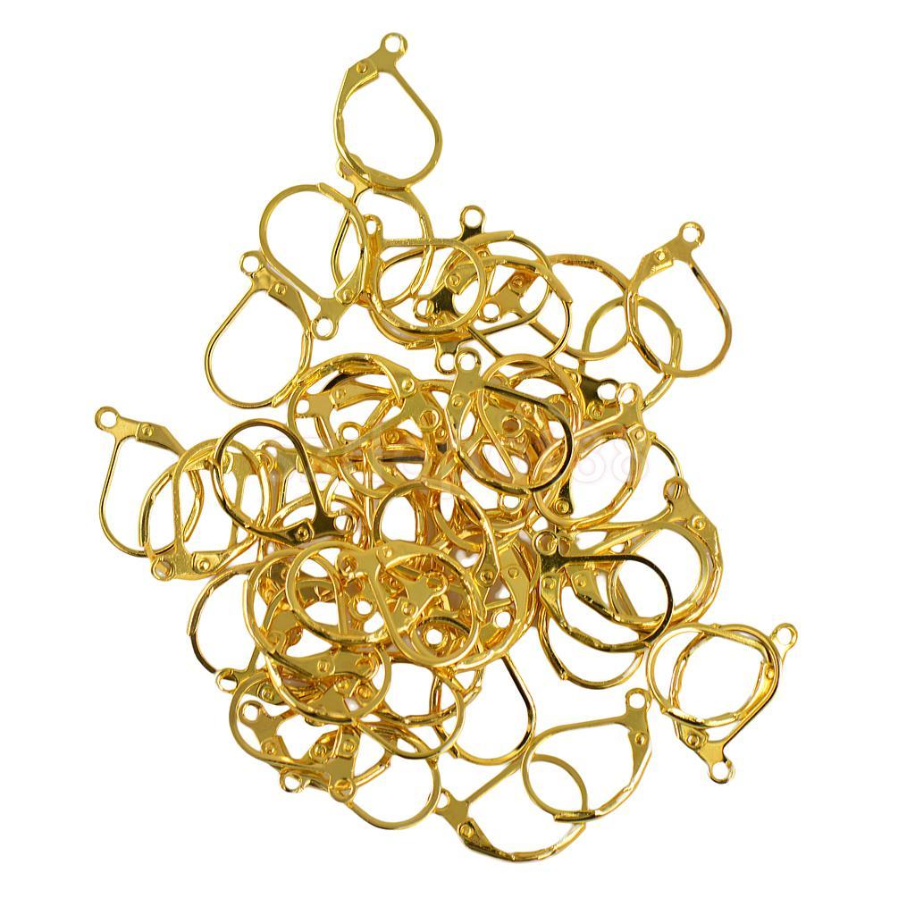 6Pcs Tibetan Silver Tone Teardrop Flower Earrings Wire Hooks Findings 10x18mm