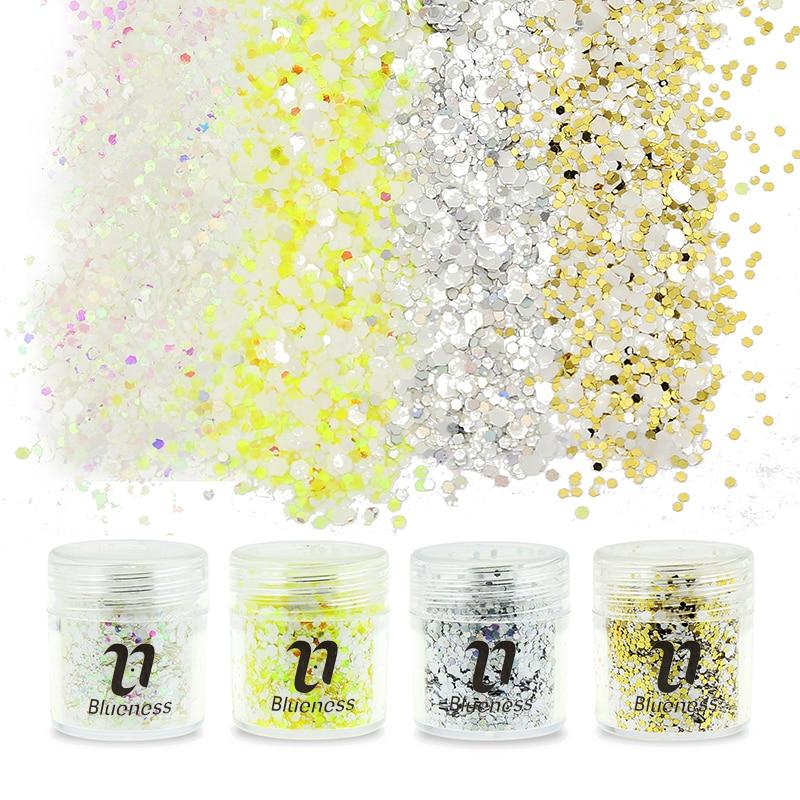 Octagon Design Nail Art Glitters Decoraciones 4 Opción Lentejuelas - Arte de uñas - foto 1