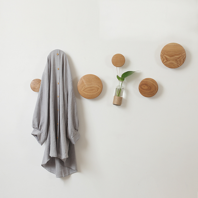 Promotion Home Decoration Coat Hook/Robe Hook japan style wall hangers for keys/clothes DIY wood handbag holder wooden hangers 2