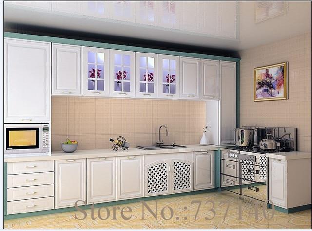 € 2729.4 |Mueble de cocina muebles paquete plano MDF muebles pintados  blanco mate cocina blanco de alto brillo cocina agente en Gabinetes de  cocina ...