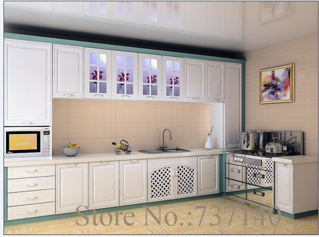 kitchen furniture kitchen cabinet flat pack mdf painted furniture ...