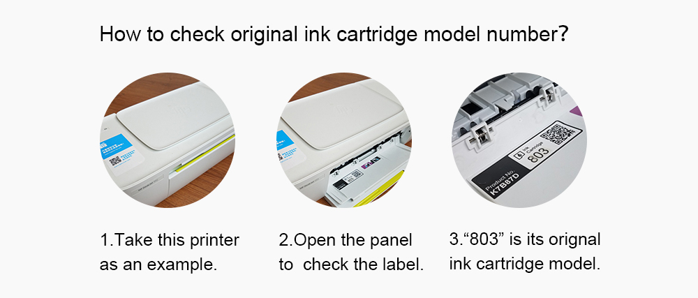 How to check original ink cartridge model number
