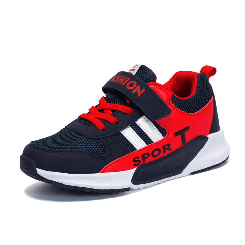 Durable Breathable Mesh Sneaker Shoes For Toddle Kids/Little Kids Boys Girls Casual Running Shoes Hook&Loop EVA&TPR Sole 27-37 aadct spring new travel children shoes low cut casual boys running shoes real leather kids shoes for little girls brand