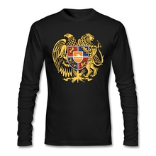 Casual ARMENIEN T-shirt Männer Förderung Männer O Hals Benutzerdefinierte Baumwolle Langarm Große Größe Basis T Shirts