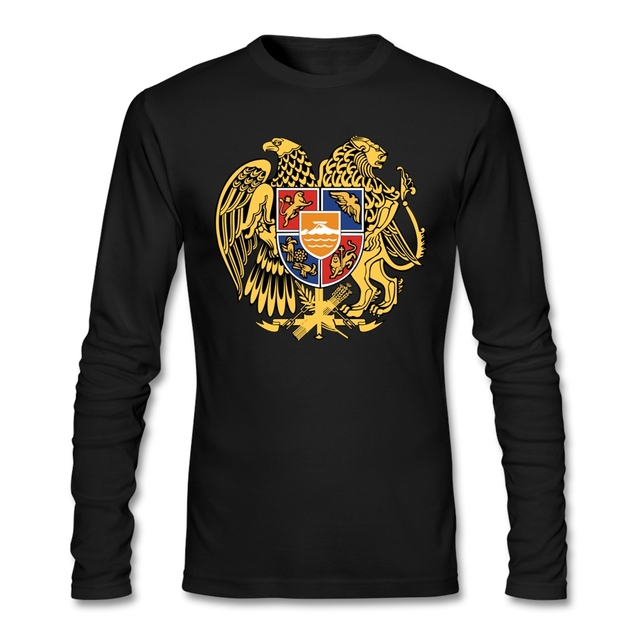 Casual ARMENIA T Shirt Men Promotion Men O Neck Custom Cotton Long Sleeve Large Size Base T Shirts