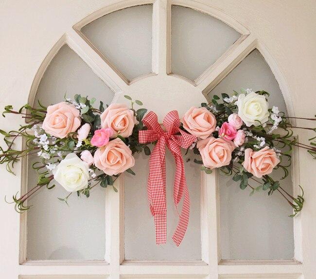 Fancy Hooded Decorative Wall Decorative Ornamental Velvet Tattoo Flower Mirror Front Flower Wedding Home, Door, Vanity Front, Li