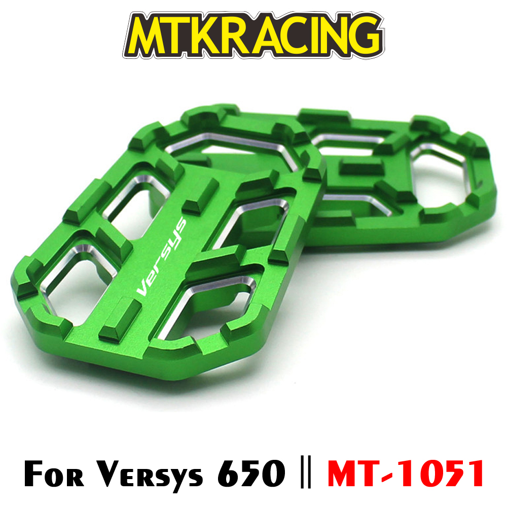 MTKRACING For Kawasaki Versys 650 X300 X1000 VERSYS 650 X-300 X-1000 Motorcycle Billet Footrest Wide Pedals Pedal Rest Footpegs