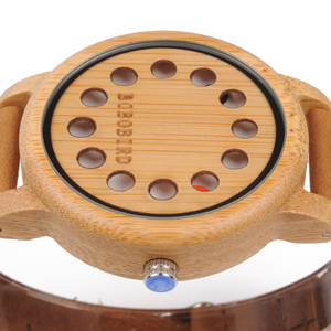 Image 4 - relogio feminino BOBO BIRD Bamboo Quartz Women Watches Creative Design Quartz Men Watch with Leather Strap Drop Shipping W A26