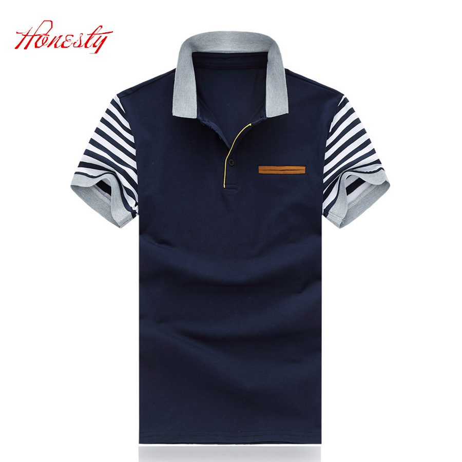 Men Polo Shirts Summer Short Sleeve Casual Cotton Slim Fit Business Polo Shirt Brand Big Size M-5XL Shirts Chemise Homme SL-S120