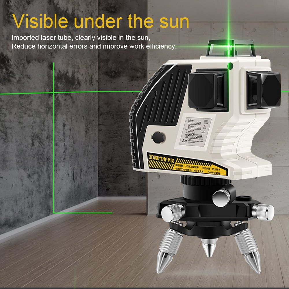 NEW 3D XE 90G 12 Lines Green Laser Level Laser Green Beam Line Self Leveling 360 Horizontal And Vertical Cross Powerful