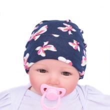 winter baby caps Cotton Newborn Hat kids Baby Hats Flower Printed knitted baby tire cap  0-5 M 15*15cm baby care accessory print