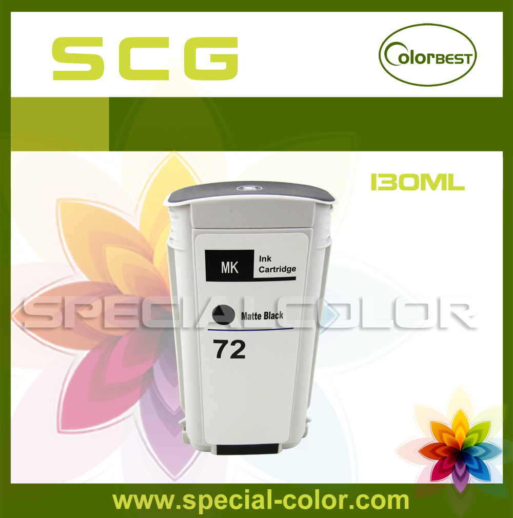 Color MK High Quality 130ml Compatible HP-72 Ink Cartridge with Chip Pigment Ink for T610 T620 T770 T790 5colors set high quality 680ml ink cartridge with pigment chip for hp 5000 5500 printer c m y lc lm