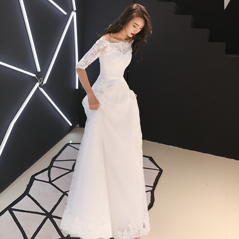 US $49 02 43% OFF|White Oriental Style Banquet Dresses Chinese Vintage  Traditional Wedding Cheongsam Grandeur Evening Party Dress Size XS XXXL-in