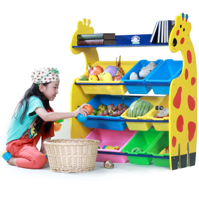 Kids plastic toys shelf baby wood toys cabinet toy storage ...
