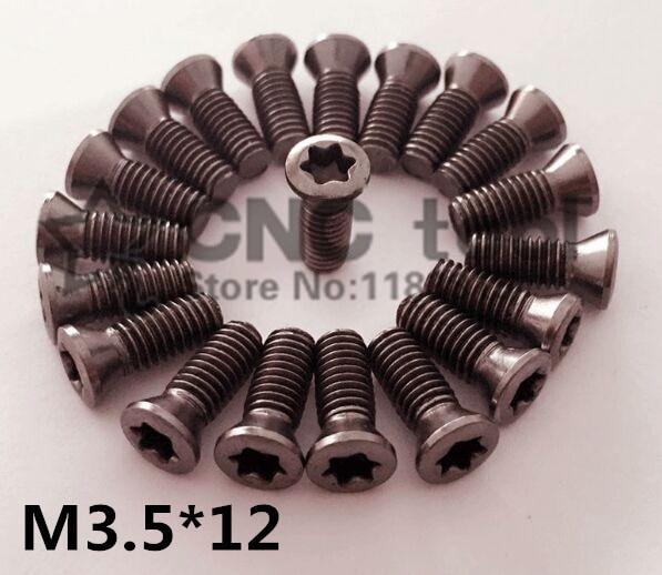 10pcs M3.5*12mm CNC lathe tool spare screws Torx screws ,Insert Torx Screw for Replaces Carbide Inserts lathe accessories