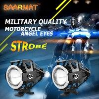 2x125 Watt U7 Shop Motorrad Angel Eyes Scheinwerfer DRL scheinwerfer hilfs helle LED fahrrad lampe zubehör auto arbeit nebelscheinwerfer