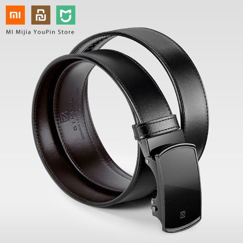 Xiaomi Qimian Business Black Italian Leather Automaitc Buckle Belt General Size 120CM Length Luxury Genuine Leather- Belt Male