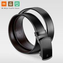 Xiaomi Qimian Business noir italien cuir Automaitc boucle ceinture taille générale 120CM longueur luxe cuir véritable ceinture homme