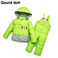 Baby girl boy winter clothing set thicken down feather snow wear kid overalls jacket infant down & parkas Suitable 6-24 month