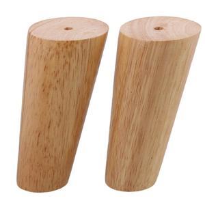 Image 3 - 4 pcs 가구 다리 피트 120mm 소파 다리 오크 테이퍼 신뢰할 수있는 나무 가구 차 테이블 다리 나사와 매트와 소파 피트