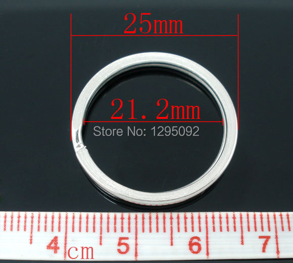 1000 Hot New DIY Silver Tone Jump Split Rings Key Rings Jewelry Making Component 25mm Free shipping