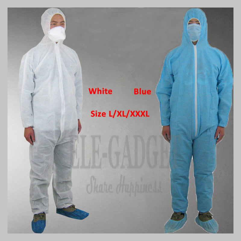 Disposable Nonwovens Safety Clothing With Hat Overall Protective Clothes For Painting Decorating Dust Oill Proof L/XL/XXL