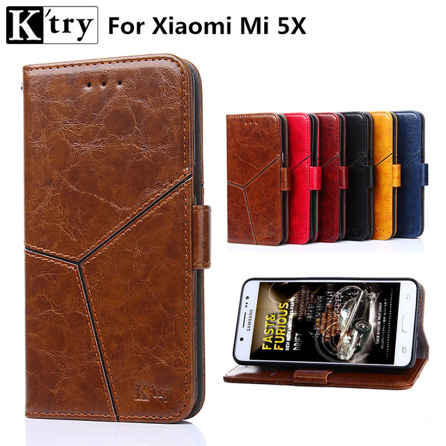 sports shoes 1dbfc 10e97 US $4.74 5% OFF|For xiaomi mi 5x case Mi a1 cover k'try full protect pu  leather wallet flip cover for xiaomi mi5x Mia1 cover fundas-in Wallet Cases  ...