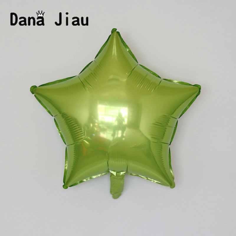 18 дюймов светло-зеленый цвет пентаграмма в форме фольги Свадебный шар День рождения украшение праздника воздушные шары события звезда балон