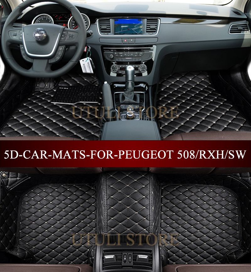 car floor mats for peugeot 508 sw rxh 2010 2017 3d custom fit car styling all weather carpet. Black Bedroom Furniture Sets. Home Design Ideas